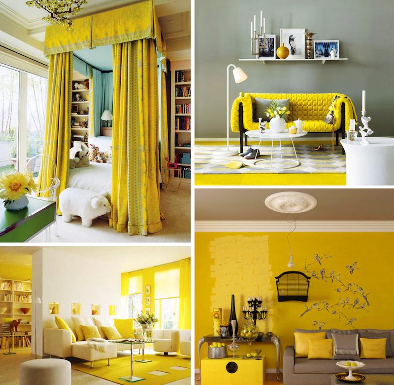 kollane värv interjooris